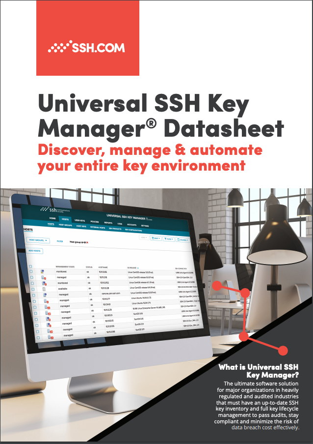 Download the Universal SSH Key Manager datasheet