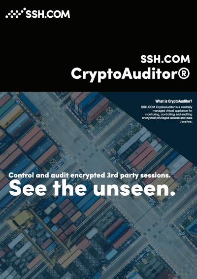 SSH CryptoAuditor datasheet front cover