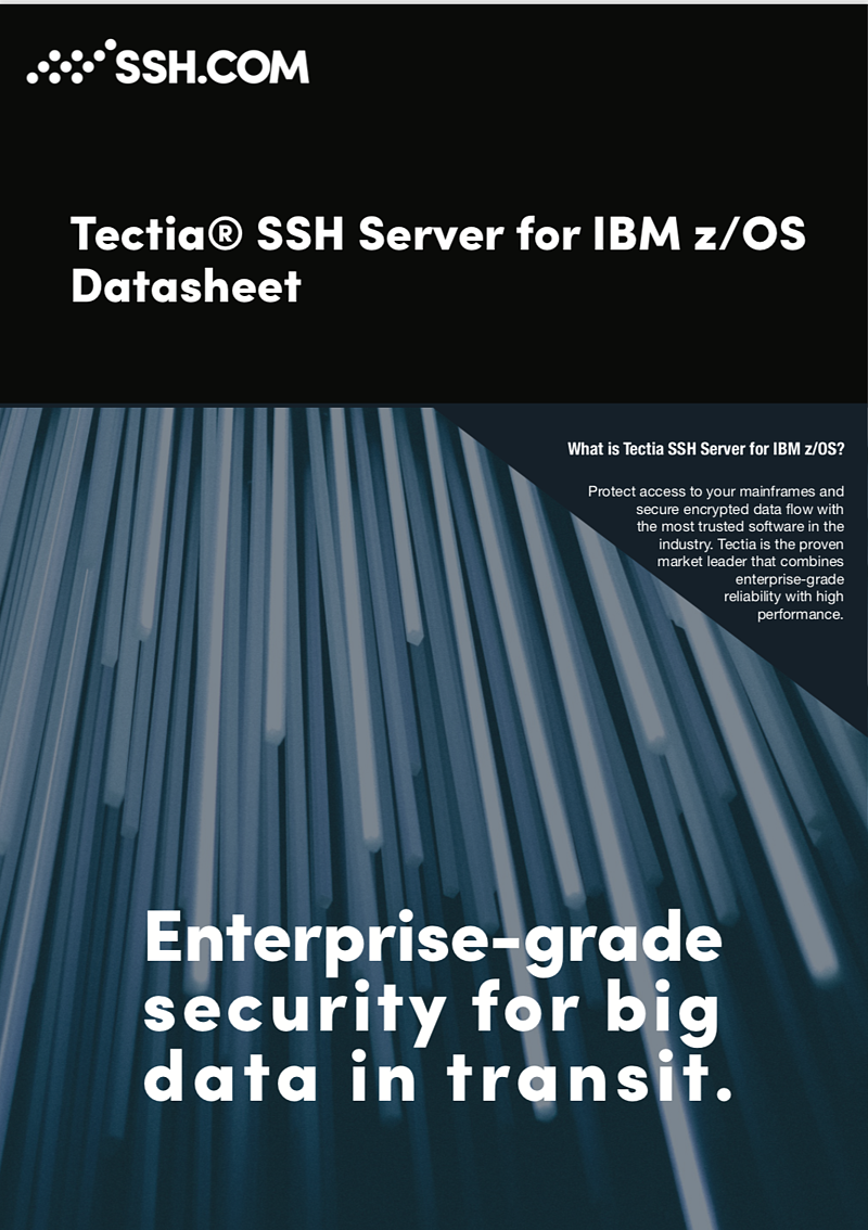 Tectia SSH Server zOS datasheet front page.png
