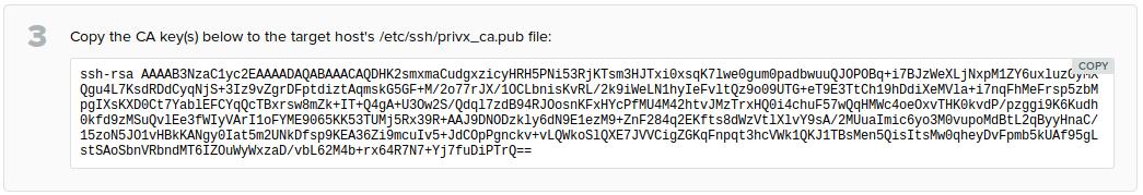 PrivX CA key